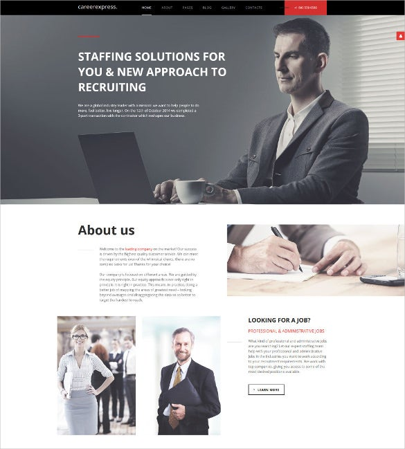careerexpress joomla blog template