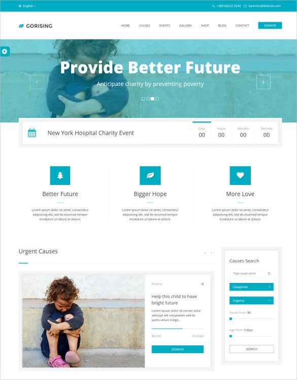 charity nonprofit html5 template