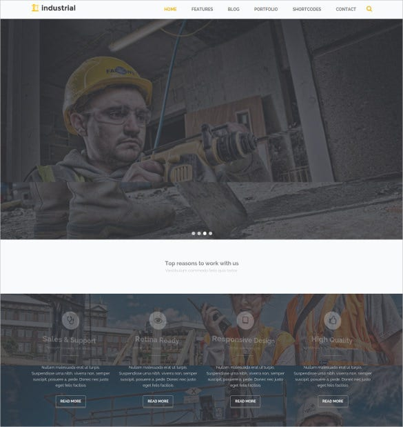 ndustrial construction industry drupal blog theme