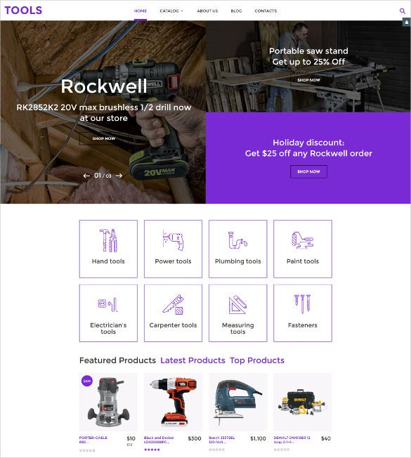 tools virtuemart ecommerce template