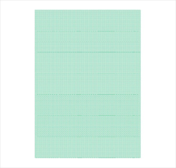 Printable Graph Paper Full Page Green  Imvcorp