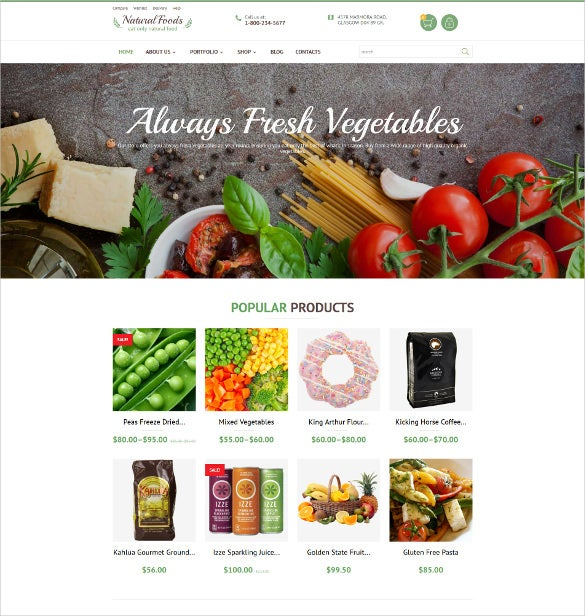 natural foods php woocommerce theme
