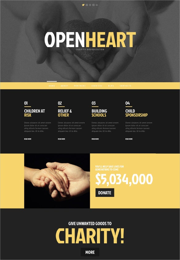 charity responsive wordpress bootstraptheme