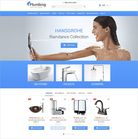 plumbing repairs prestashop ecommerce theme