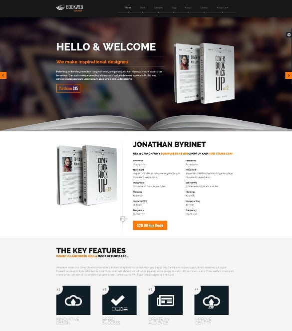 bookish – book marketing php theme