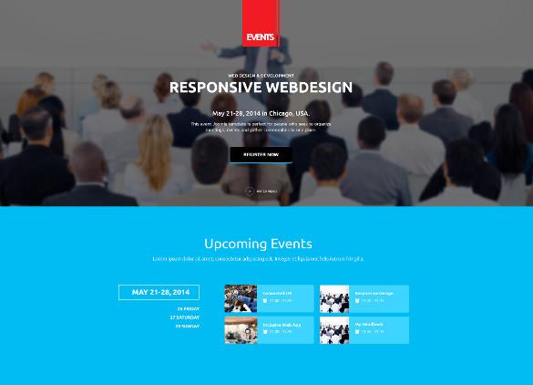 events marketing php wordpress theme