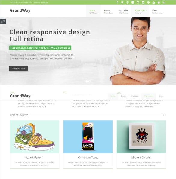 grandway clean and professional marketing php theme