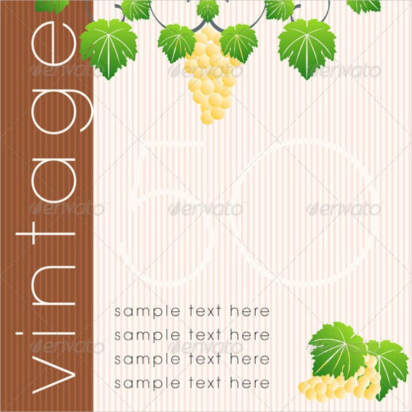 wine labels design template set