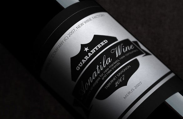 label fot wine template