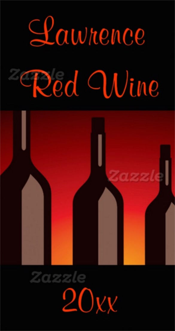 wine bottles homemade wine label template