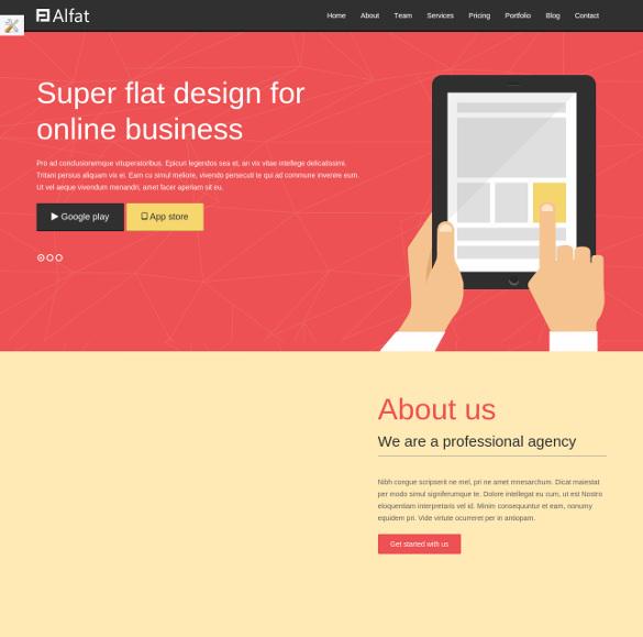 alfat wordpress website theme