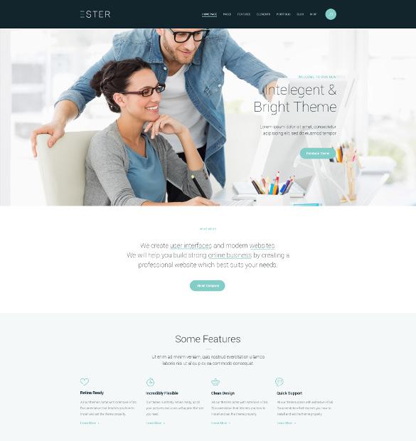 ester marketing wordpress theme