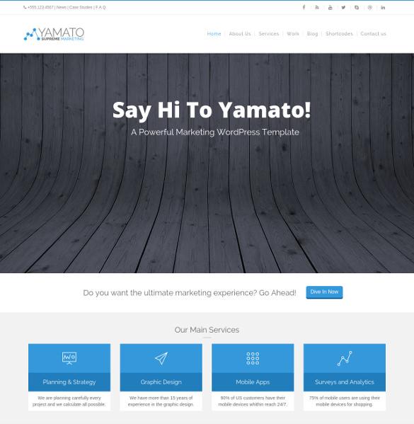 yamato corporate marketing wordpress theme