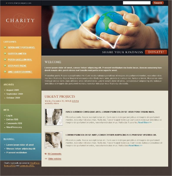 children charity trust psd template