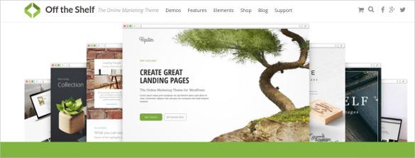 off the shelf online marketing wordpress theme
