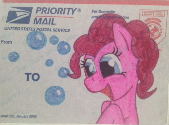pony mailing label template