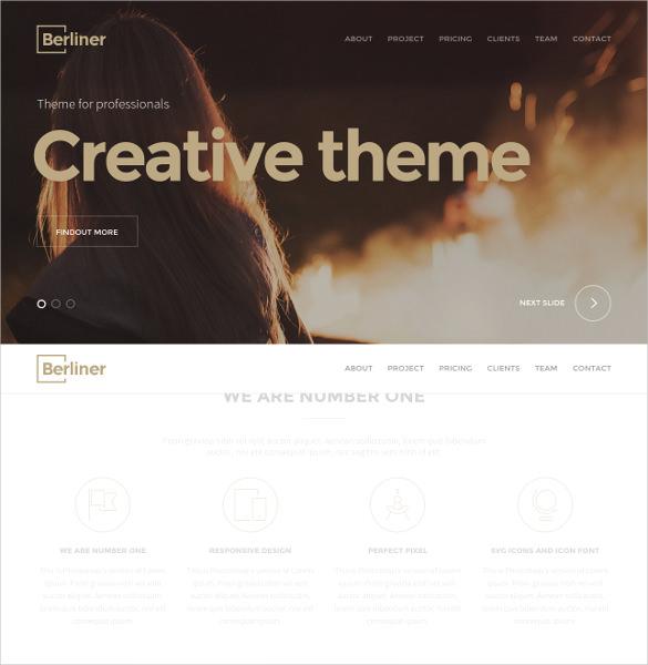 berliner creative wordpress website theme