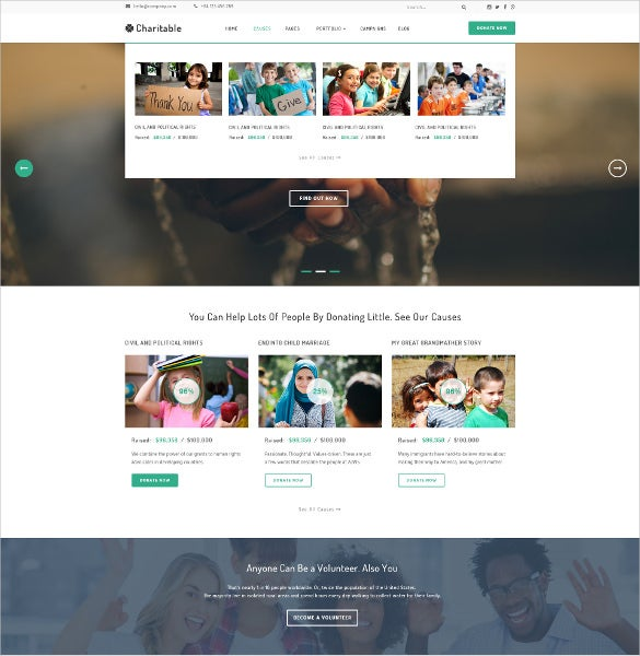 charity organization psd theme