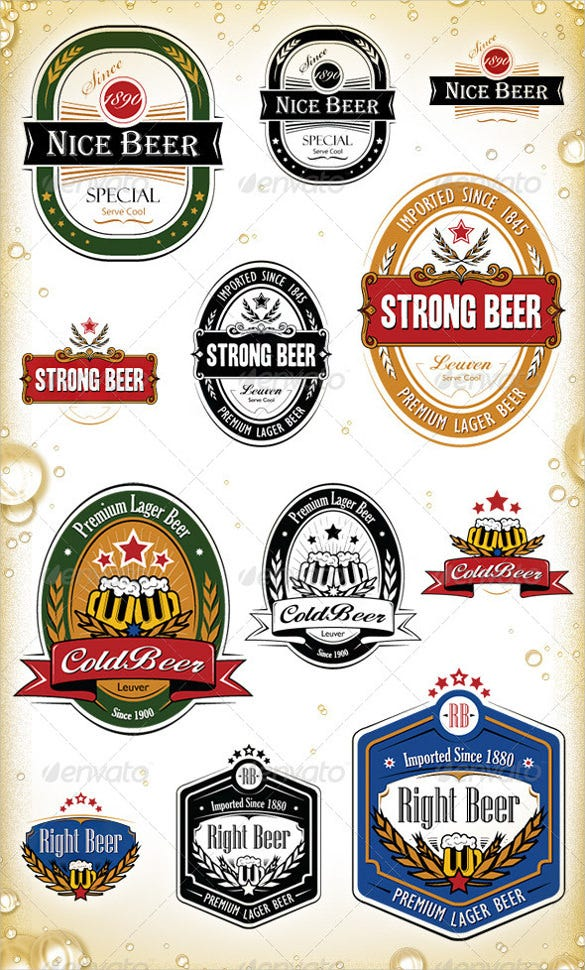 Beer Labels Vector Eps