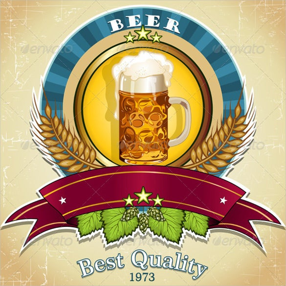 beer label vector eps download