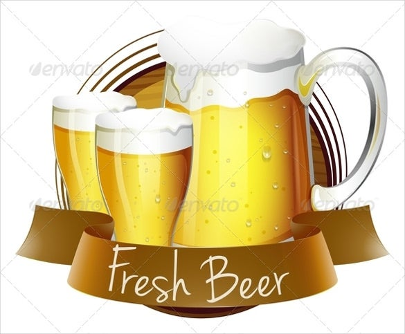 beer label vector eps template