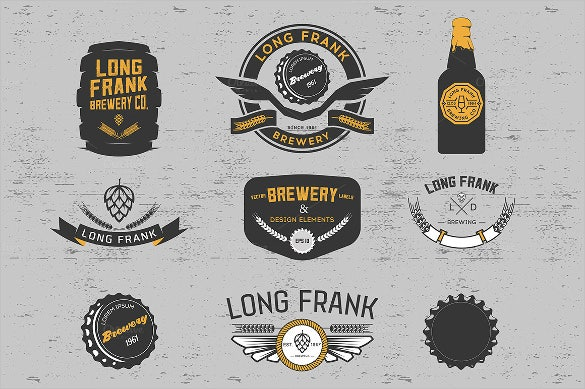 vector brewery labels template