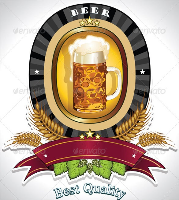 Beer Label Template   Free Eps Psd Ai Illustrator Format