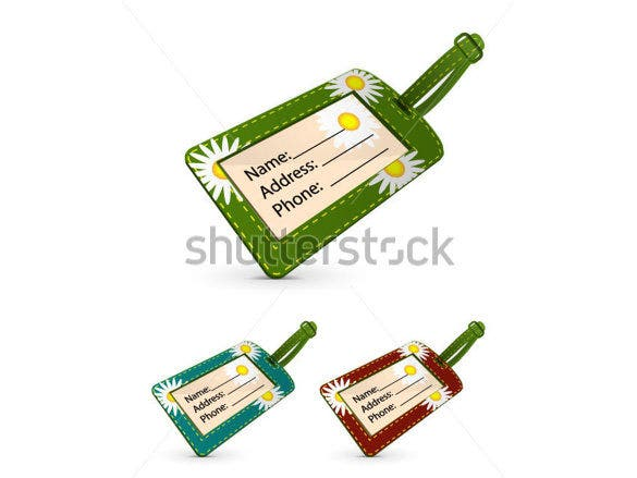 vector set of flowers return address label
