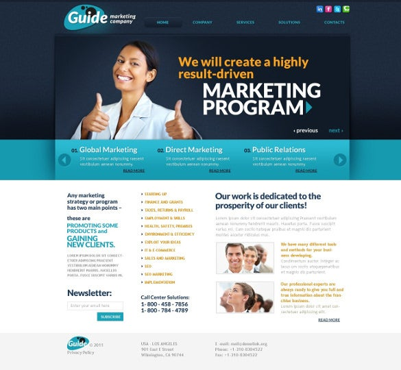 marketing programme psd template