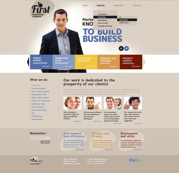 first marketing companey psd template