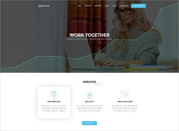 digital plus marketing psd template