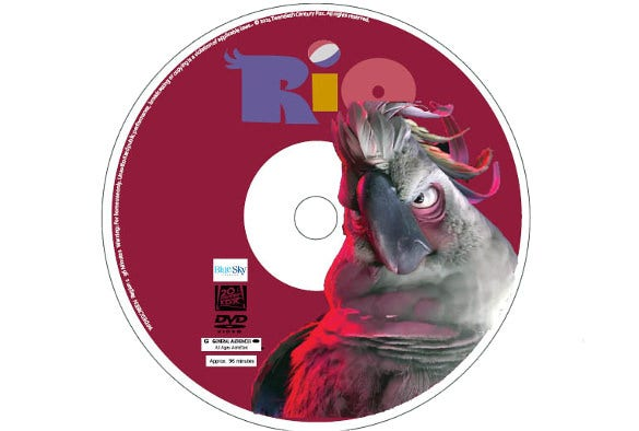 dvd cover and disc label design template