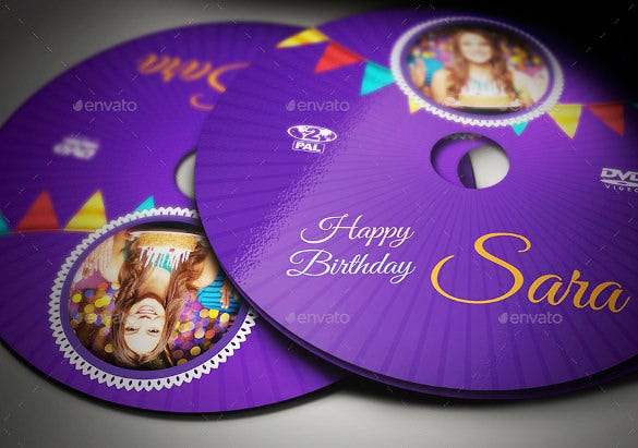 dvd label for birthday template