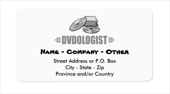humorous dvd lover address label