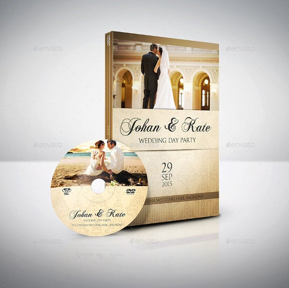 wedding dvd cover and dvd label template