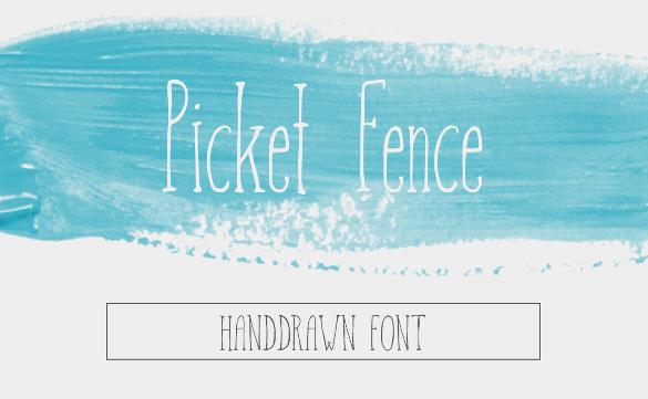 Picket Fence Font