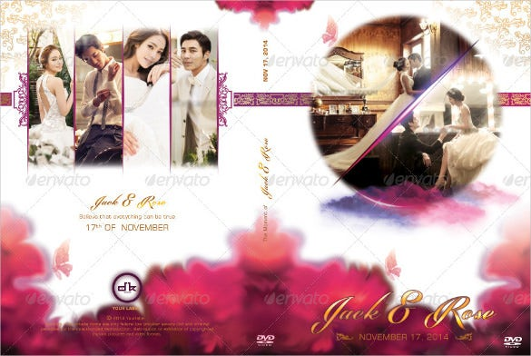 wedding dvd cover disc label bundle