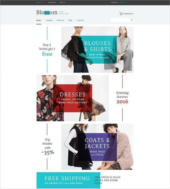 retail blossom virtuemart blog template