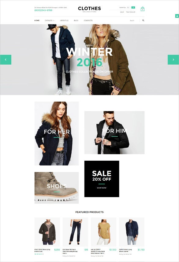 retail clothes virtuemart blog template