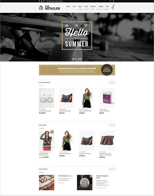 retailer responsive wordpress blog theme