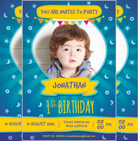 brown color birthday invitation for kids