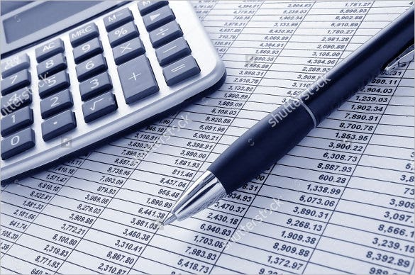 sample of financial spreadsheet template download