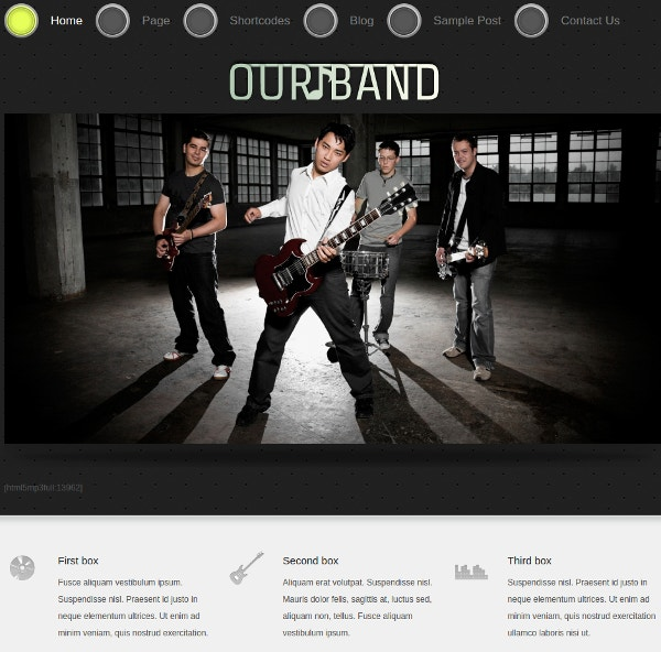Special Music Band Website Theme
