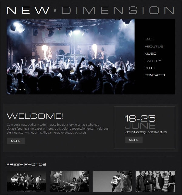 Special Music Band Moto CMS HTML website Template $139