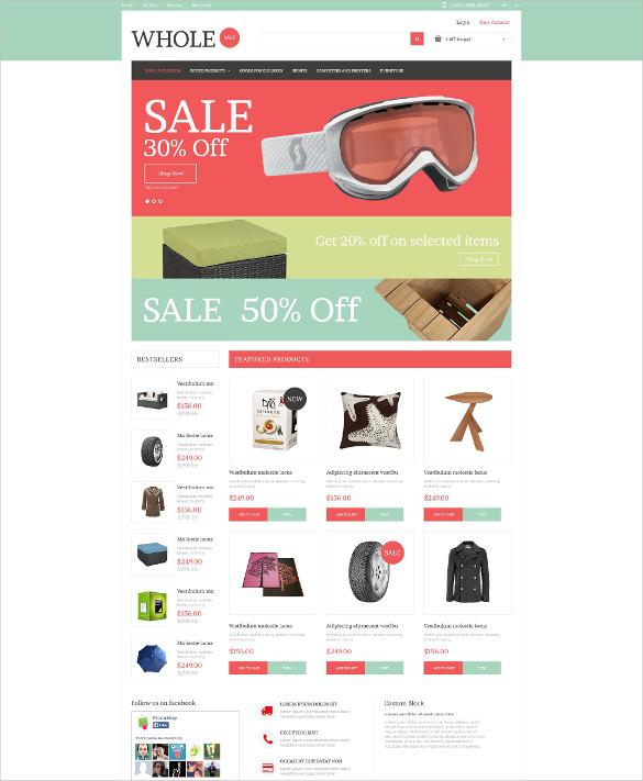 retail online prestashop html5 theme
