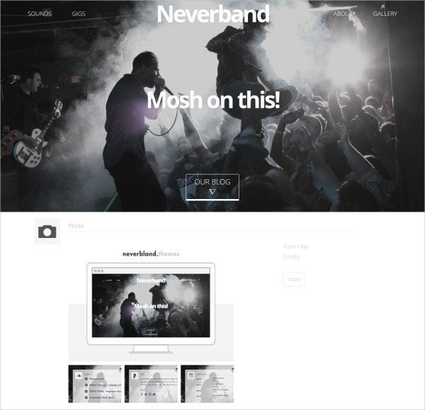 Music Band Tumblr Theme