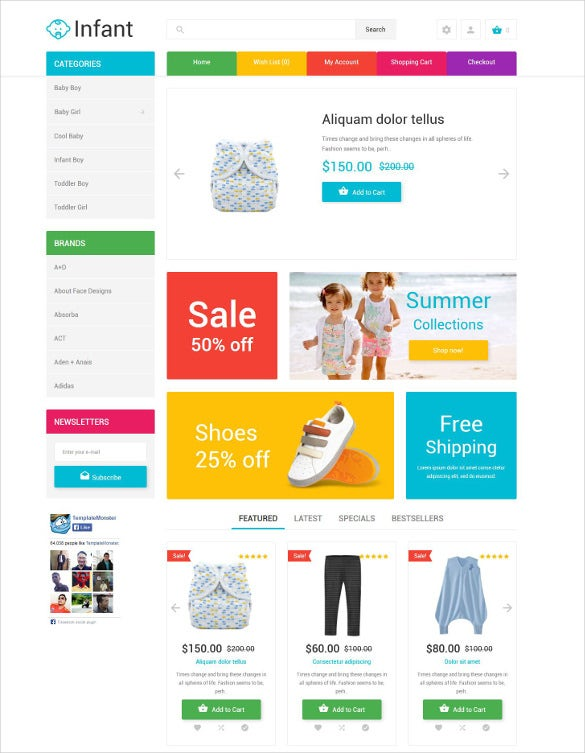 retail clothing store opencart html5 template