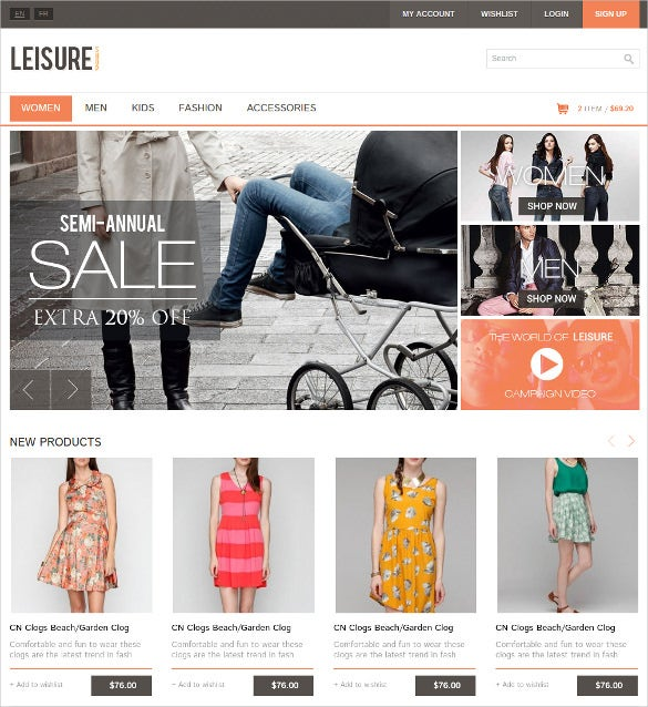 responsive e commerce retail html5 template