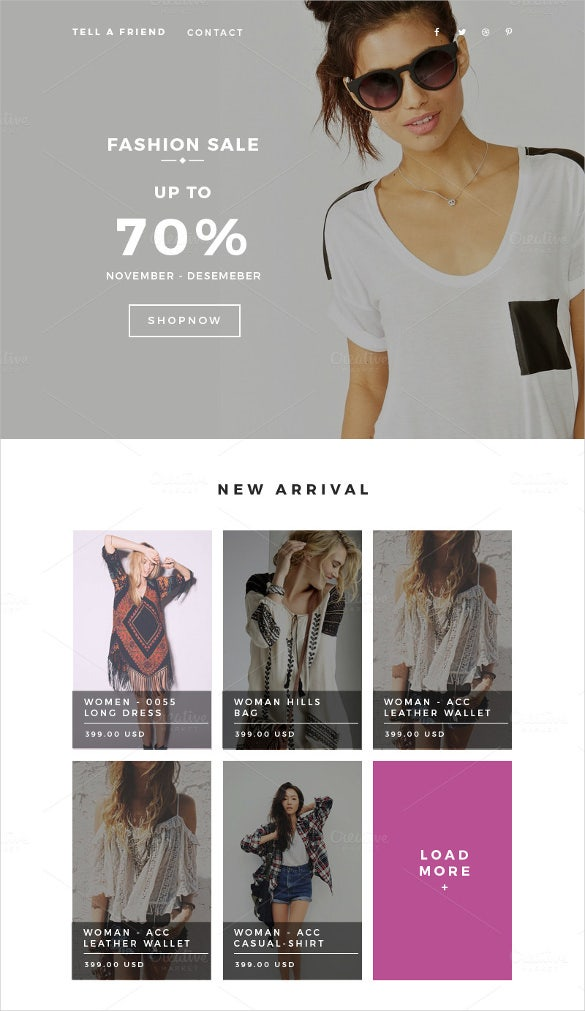 responsive retail fashion email html5 templates