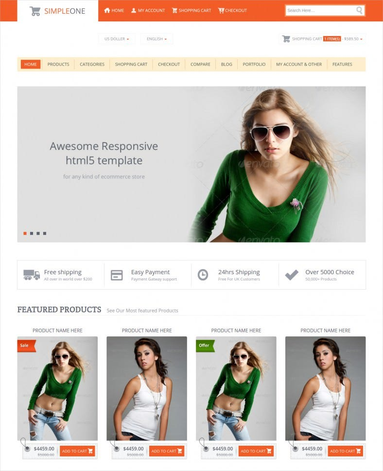 retail e commerce html5 template 788x969